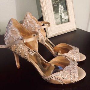 Badgley Mischka wedding heels Sz 5.5 or 6
